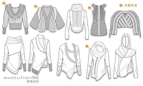 实用服装款式图设计和表现手法图片