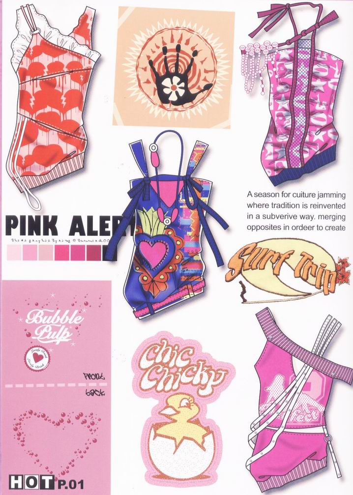 女式针织服装设计手绘图