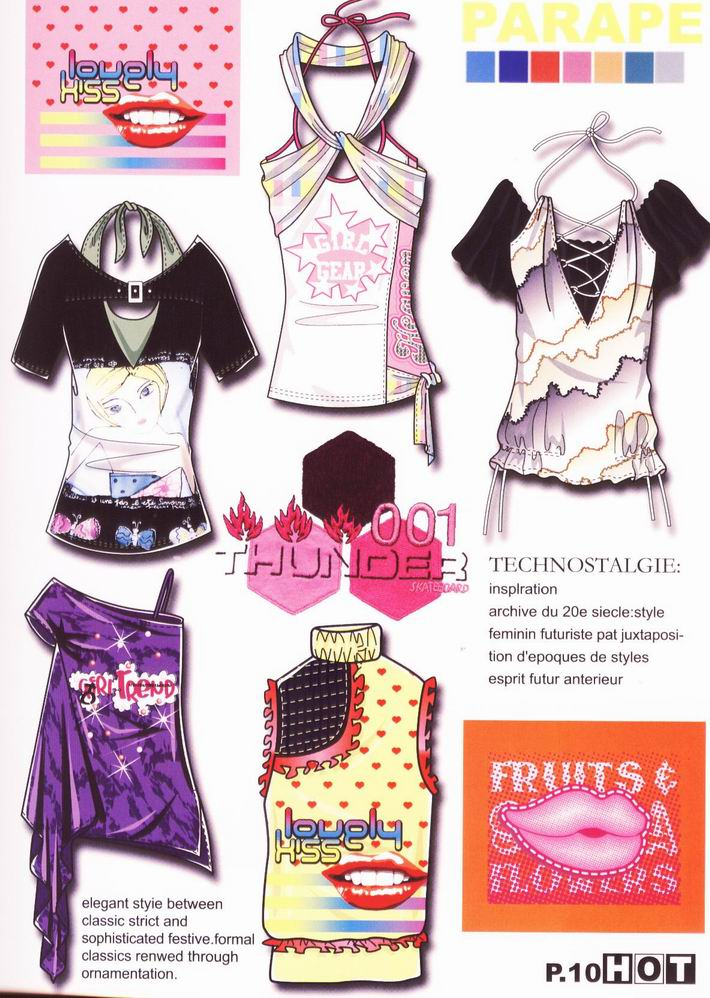 服装设计图,服装款式图
