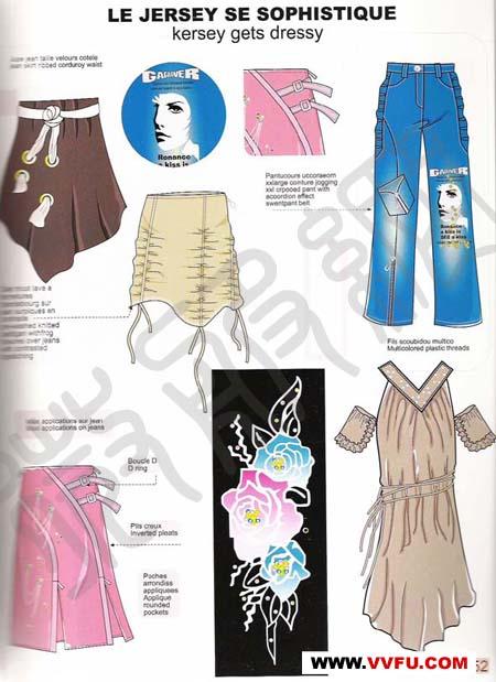 米兰服装设计图手绘