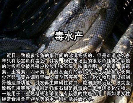 中国有毒食品大全,毒水产