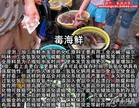 中国有毒食品大全,毒海鲜
