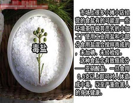 中国有毒食品大全,毒盐